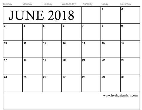 Free Calendar Template 2018 by 15 Best June 2018 Calendar Printable Templates