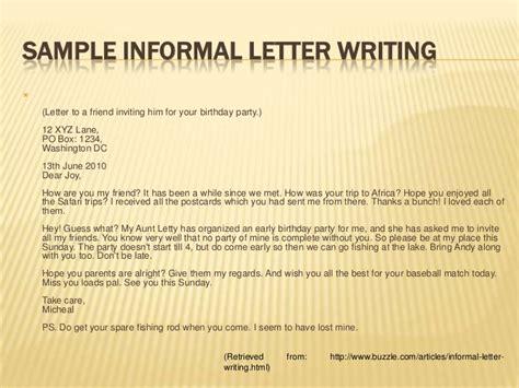 vocab  informal letter