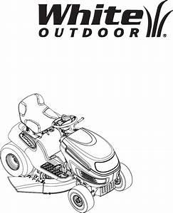 White Outdoor Lawn Mower Lt