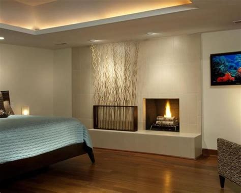 led chambre led leisten versteckt decke paneele schlafzimmer kamin