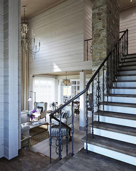 chambre lambris bois maison familiale russe au design intérieur néo