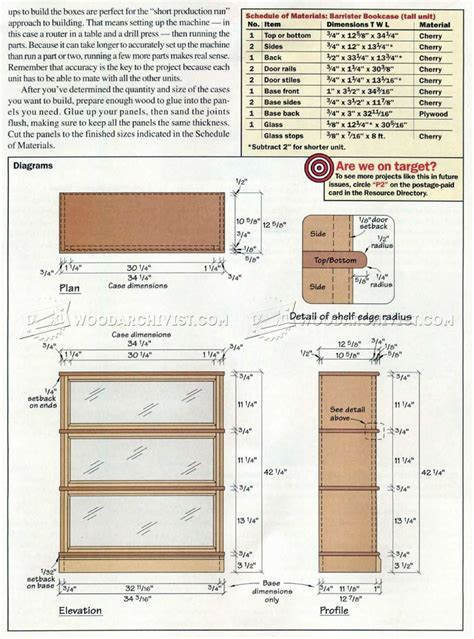 Lawyers Bookcase Plans - barrister bookcase plans woodarchivist