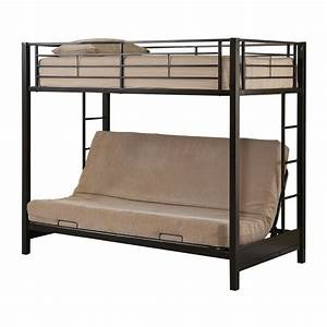 Walker edison btof twin over futon bunk bed atg stores for Twin bed over futon