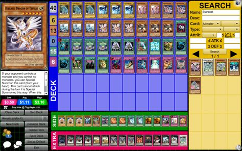 yugioh side deck and deck hieratic with side deck yu gi oh tcg ocg