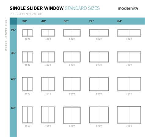 standard window sizes standard window sizes window sizes slider window