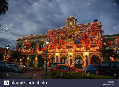 city hall christmas light decoration   plaza  juana