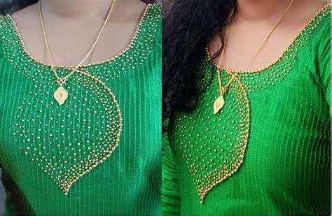 beads work  churidar top churidar neck designs kurti