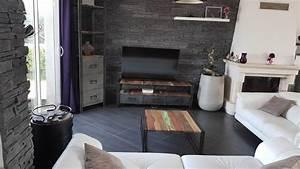 Style Industriel Salon : salon bichromatique de style industriel florian du folgo t 29 rue de siam ~ Teatrodelosmanantiales.com Idées de Décoration