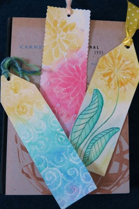 diy craft project    colorful bookmarks
