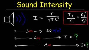 Sound Intensity Physics Problems  U0026 Inverse Square Law