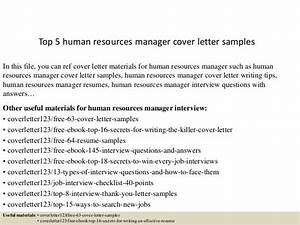 cover letter for human resource coordinator - top 5 human resources manager cover letter samples