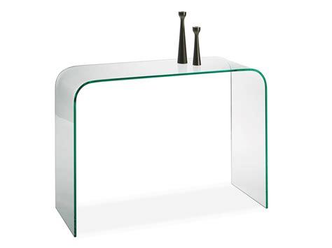 bureau en verre transparent console d 39 entrée en verre manhattan meubles turone