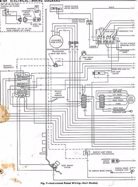 1966 Dodge Dart Wiring Diagram by 66 Dart Wiring Diagram Dash Slant Six Forum