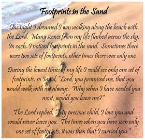 Free Printable Footprints in the Sand Poem
