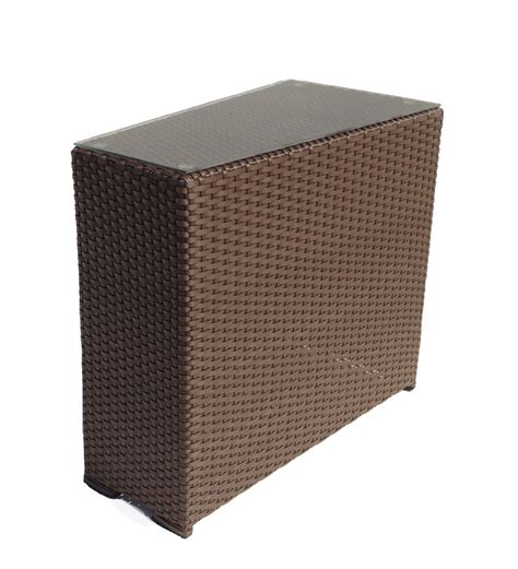 wicker patio end tables outdoor wicker wedge end table sonoma