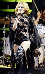 Sheer surprise: Kylie joins Scissor Sisters at Glasto - NY ...