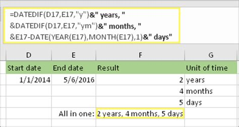 calculate  difference    excel