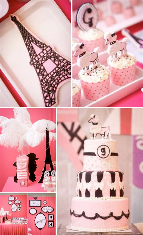 poodle  paris french girl pink st birthday party