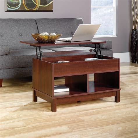 At first a compact table, this wood and white lacquer find can stretch its top 360 degrees. Lift Top Coffee Tables With Storage   Roy Home Design