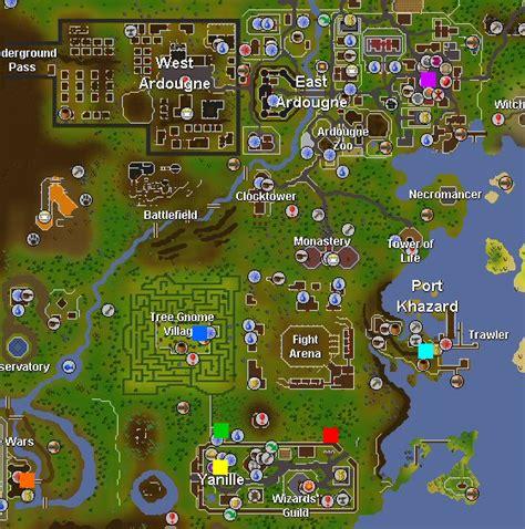 nmz nightmare zone guide list training runescape map ardougne port tree watchtower castle wars portal ft fishing gp point