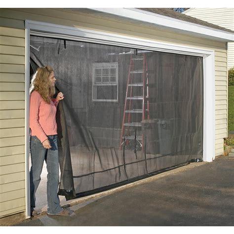 screen garage door shelterlogic 16x8 39 garage door screen 184889 pest