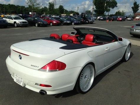 Sell Used 2007 Bmw 650i Convertible White With Red