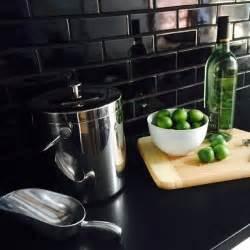 black backsplash kitchen black subway tile kitchen backsplash design ideas