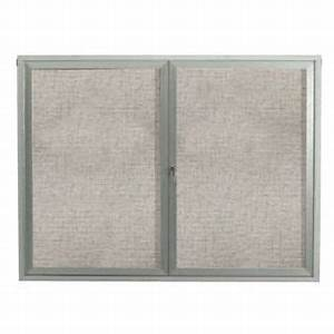aarco rr3636v removable letter panel for enclosed bulletin With removable letter board
