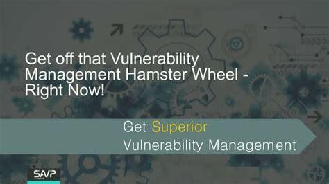vulnerability management hamster wheel