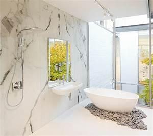 carrelage salle de bain effet marbre With salle de bain marbre carrare