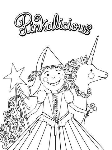 pinkalicious coloring page supercoloringcom