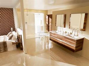 Meuble Double Vasque Suspendu : meubles de salle de bains suspendus double vasque avec plan en beton de synthese ambiance bain ~ Melissatoandfro.com Idées de Décoration