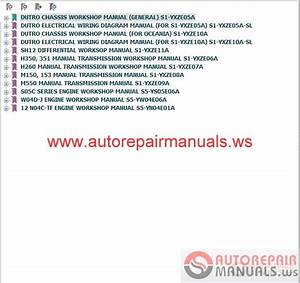 Hino Dutro Wu  U0026 Xzu Series Repair Manual