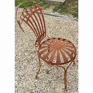 Chaise De Jardin En Fer : chaise de jardin en fer forg blanc moinat sa antiquit s d coration ~ Teatrodelosmanantiales.com Idées de Décoration