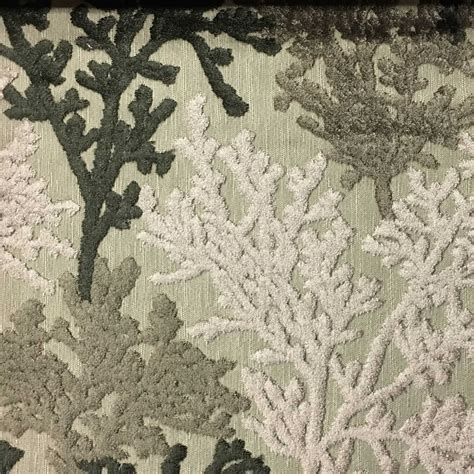 Coral Upholstery Fabric by Reef Coral Pattern Cut Velvet Upholstery Fabric By The