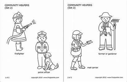Community Helper Printable Helpers Clipart Jobs Templates