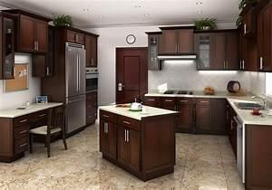 Cognac Shaker Kitchen Cabinets - RTA Kitchen Cabinets