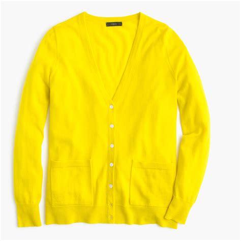 yellow cardigan sweater j crew merino wool cardigan sweater in yellow