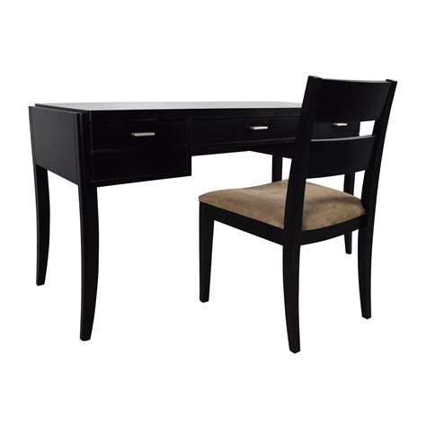 78% Off  Crate & Barrel Crate & Barrel Black Wood Desk. Study Table For Kids. Executive Desk Company. Kitchen Table Set. Cheap Desk Top. Knife Storage Drawer. Unfinished Console Table. Gold Desk Lamp. 3 Drawer Cabinet