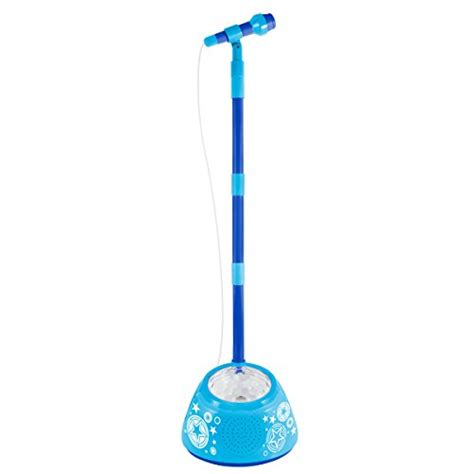 discovery kids light up musical microphone and stand first act fi1278 light up microphone and amplifier