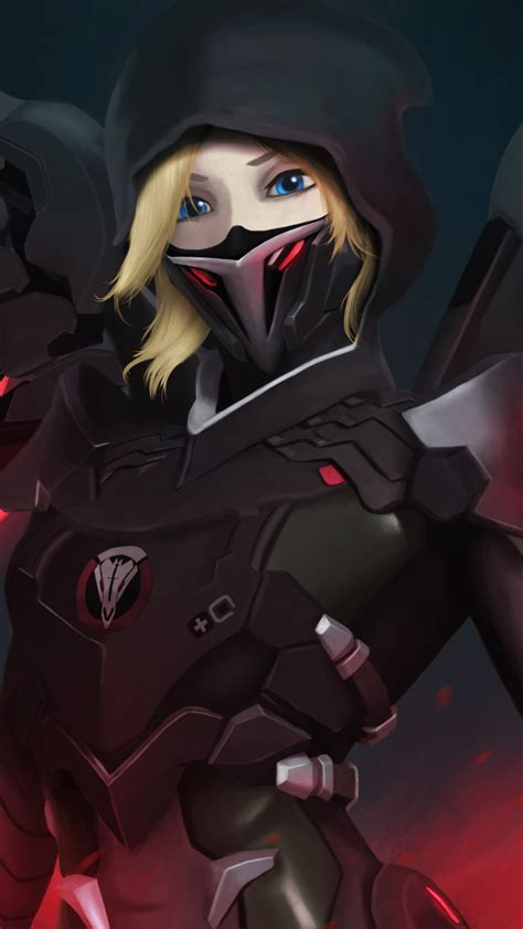 wallpaper mercy blackwatch overwatch hd  games
