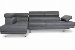 Canape Avec Tetiere : canap d 39 angle droit gris avec t ti re relevable tilpa design sur sofactory ~ Teatrodelosmanantiales.com Idées de Décoration