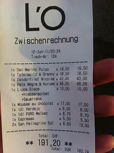 Restaurant Rechnung : restaurant l 39 o horgen ch k chenreise ~ Themetempest.com Abrechnung