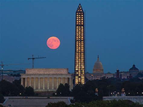 super harvest moon rises monday night abc news