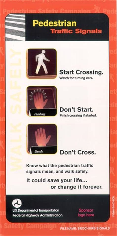 national pedestrian safety campaign safety federal