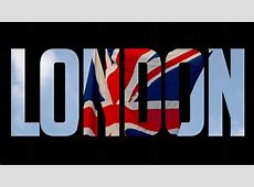 London Title British Flag Built Into Animated Word