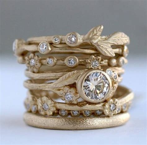 stackable engagement wedding rings