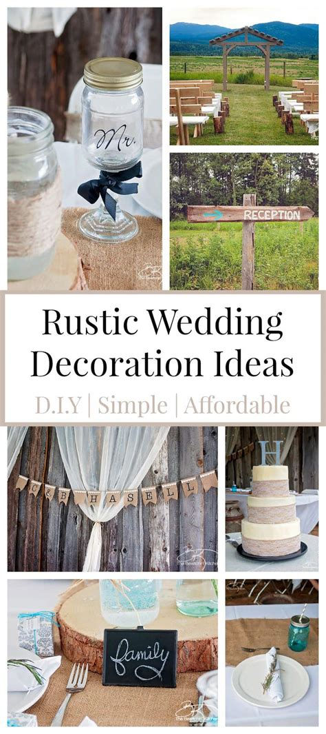 Rustic Wedding Ideas That Are DIY & Affordable The