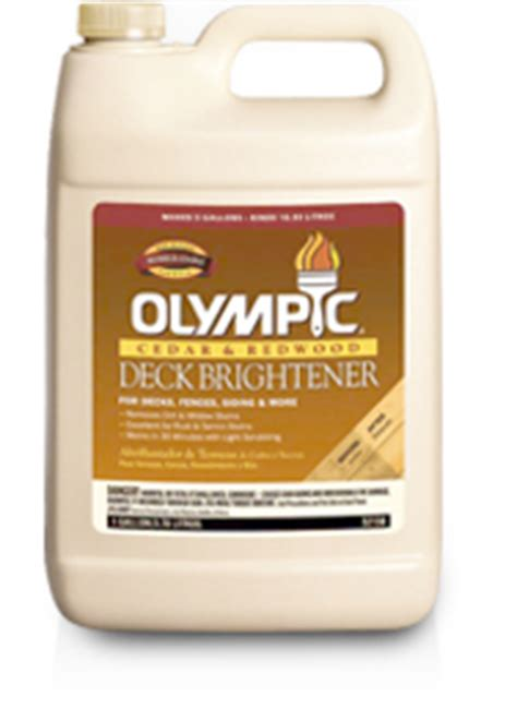 Olympic Deck Cleaner Ingredients by Olympic 174 Deck Brightener
