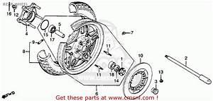 Honda Cb900c 900 Custom 1982  C  Usa Rear Wheel